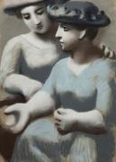 Deux femmes aux chapeaux [Two Women with Hats]
