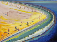 Wayne Thiebaud, Triangle Beach, 2003-2005