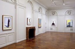 Installation view of Wayne Thiebaud at Acquavella Galleries from September 30 - November 20, 2014.