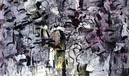Jean Paul Riopelle, Grey and Black Streaks, 1964