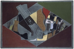 Georges Braque, Guitar and Glass, 1917