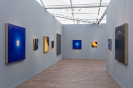 Installation view of Damian Loeb: All Hope is Lost at Frieze New York from May 2-5, 2019.