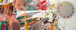 James Rosenquist, Time Stops the Face Continues, 2008