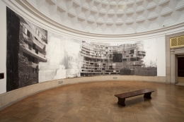 Installation view of the Enoc Perez: Utopia at the Corcoran Gallery of Art from November 10, 2012 - February 10, 2013.