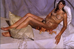 Lucian Freud, Irishwoman on a Bed, 2003-4