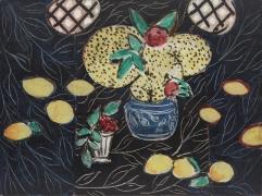 Matisse, Nature morte aux mimosas sur fond noir, 1944