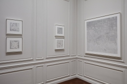 Installation view of Jacob El Hanani Linescape: Four Decades at Acquavella Galleries Exhibition Extended through December 15, 2017.