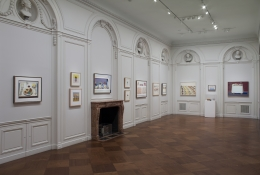 Installation view of Wayne Thiebaud: A Retrospective at Acquavella Galleries from October 22 - November 29, 2012.