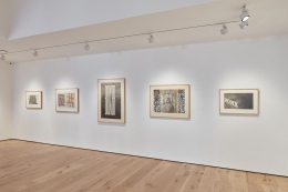 """Installation view of """"Works on Paper from a Distinguished Private Collection"""""""