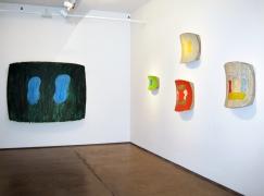 Installation view,Ron Gorchov,Recent Paintings,Nicholas Robinson Gallery, New York, 2008
