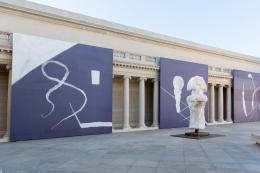 Installation view, Julian Schnabel: Symbols of Actual Life, Legion of Honor, San Francisco, 2018