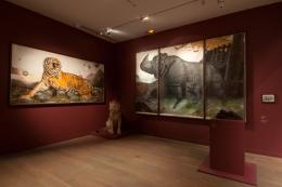 Installation view, Walton Ford,Musée de la Chasse et de la Nature, Paris, 2015
