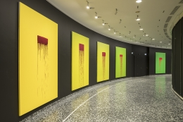 Installation view, Pat Steir: Color Wheel, the Hirshhorn Museum and Sculpture Garden, 2018–19