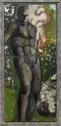 A painting by Markus Lüpertz depicting Orpheus und Eurydice