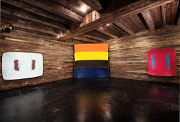 Installation view, Ron Gorchov, Works from the 1970s, New York, 2016