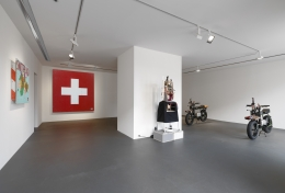 Installation view: Tom Sachs, The Pack, Vito Schnabel Gallery, St. Moritz, 2018-2019, © Tom Sachs; Photos by Stefan Altenburger; Courtesy Tom Sachs Studio and Vito Schnabel Gallery