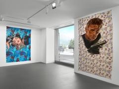 Installation view, Walter Robinson,The Americans, Vito Schnabel Gallery, St. Moritz, 2017