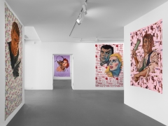 Installation view, Walter Robinson, The Americans, Vito Schnabel Gallery, St. Moritz, 2017