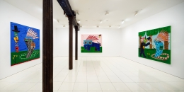Installation view: Jordan Kerwick: Things we talk about, things we see,Vito Schnabel Gallery, New York; Artworks © Jordan Kerwick;Photo by Argenis Apolinario; Courtesy the artistand Vito Schnabel Gallery