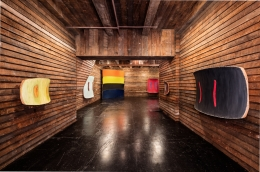Installation view, Ron Gorchov,Works from the 1970s,New York, 2016