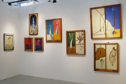 Installation view, Vahakn Arslanian, Outsider Art Fair, New York, 2013