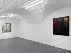 Installation view: Pat Steir: Paintings From The East