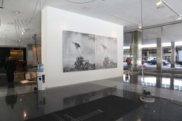 Installation view, The Bruce High Quality Foundation, Art History with Labor, The Lever House Art Collection, New York, 2012