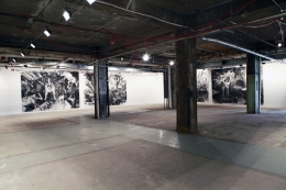 Installation view, Laurie Anderson,Boat, Vito Schnabel, New York, 2012