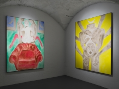 Installation view: Francesco Clemente: Clouds, Vito Schnabel Gallery, St. Moritz, 2019-2020