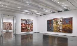 Installation view, Julian Schnabel Plate Paintings 1978–86, Aspen Art Museum, Colorado, 2016
