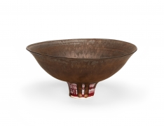 Lucie Rie Footed bowl, c. 1986