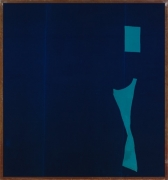 Julian Schnabel, Abstract Painting on Blue Velvet