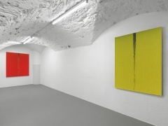 Installation view: Pat Steir, Paintings, Vito Schnabel Gallery, St. Moritz, 2019