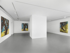 Installation view: Julian Schnabel, Trees of Home (for Peter Beard), 2020