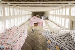 Installation view, Francesco Clemente: Encampment, MASS MoCA, North Adams, MA, 2015