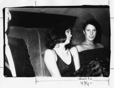 Half of Andy, Bianca Jagger, Princess Diane de Beauvau-Craon, New York, c. 1980