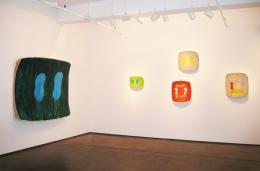 Installation view, Ron Gorchov,Recent Paintings,Nicholas Robinson Gallery, New York, 2008