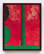 HALF TETRAD (6343), 2016, Acrylic, oil, elastic, and cardboard on canvas