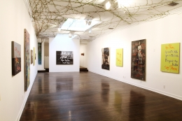 Installation view, Rene Ricard,Go Mae West, Young Man, Los Angeles, 2012