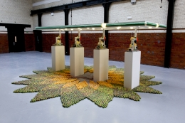 Installation view, The Bruce High Quality Foundation,Beyond Pastoral, The Tramshed, London, 2010
