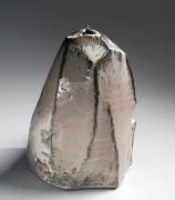 Kaneta Masanao (b. 1953), Scooped-out hook-shaped vessel