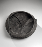 Sutō Satoshi (b. 1976), Carved vessel with striated patterning