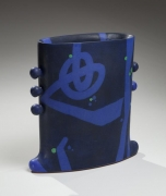 Morino Taimei, Blue and black-glazed vessel, 2015, Japanese modern, contemporary, ceramics, sculpture