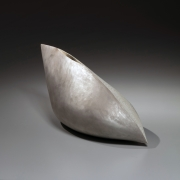 Azuma Kaori (b. 1972), Matte white and silver, carved shell patterned sculpture