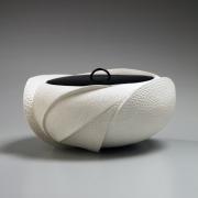 White water jar with impressed patterning, 2018