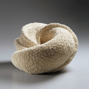 Hattori, Makiko, Hattori Makiko, ceramics, pottery, clay, japan, japanese, art, contemporary japanese ceramics, contemporary art, stoneware, sculpture, wandering, swirl, vessel, shaved, surface, texture, swirling, 2012, gallery, mirviss, japan