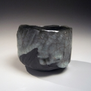 Uraguchi Masayuki (b. 1964), Straight sided teabowl with irregular mouth