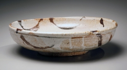 Hamanaka Gesson, shino-glazed, 2007, Shino-glazed stoneware, Japanese bowl, Japanese ceramics, Japanese pottery, Japanese contemporary ceramics