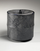 Black water jar, 2014, Japanese contemporary, modern, ceramics, sculpture