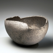 Ogawa Machiko, Silver and platinum-glazed vessel, 2009. Glazed stoneware, Japanese modern, contemporary, ceramics, sculpture